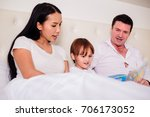 family spend time happiness... | Shutterstock . vector #706173052