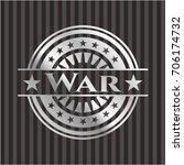 war silvery badge   Shutterstock .eps vector #706174732