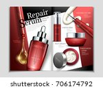 skin care magazine template ... | Shutterstock .eps vector #706174792