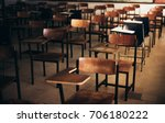 soft and blur focus.row lecture ... | Shutterstock . vector #706180222