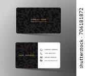 modern business card design...   Shutterstock .eps vector #706181872