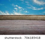 open wooden terrace with angle...   Shutterstock . vector #706185418
