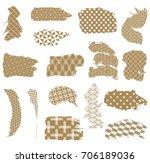 japanese pattern vector in... | Shutterstock .eps vector #706189036