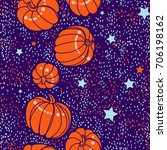 happy halloween. autumn endless ... | Shutterstock .eps vector #706198162