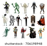 classic monsters creatures... | Shutterstock .eps vector #706198948