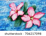 acrylic hand painting on the... | Shutterstock . vector #706217098