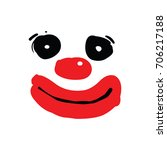 clown face illustration | Shutterstock .eps vector #706217188