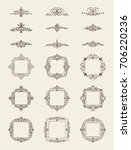 vintage decor elements and... | Shutterstock . vector #706220236