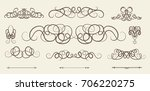 vintage decor elements and... | Shutterstock . vector #706220275