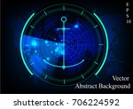 green radar screen.technology...   Shutterstock .eps vector #706224592