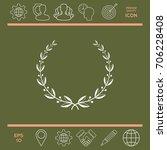 laurel wreath | Shutterstock .eps vector #706228408