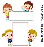 vector set of cute kids  boys... | Shutterstock .eps vector #706240612