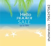sale banner or poster of summer ... | Shutterstock .eps vector #706247362