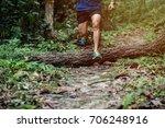 athletic runner running on...   Shutterstock . vector #706248916