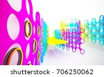 abstract architectural interior ... | Shutterstock . vector #706250062