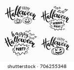 happy halloween lettering....