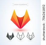vector abstract fox logo.... | Shutterstock .eps vector #706261852