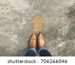selfie above view of brown... | Shutterstock . vector #706266046
