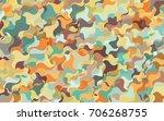 dark green  yellow vector bent... | Shutterstock .eps vector #706268755