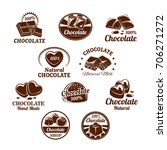 chocolate desserts and choco... | Shutterstock .eps vector #706271272