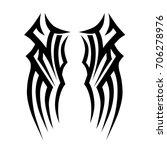tribal tattoo art designs.... | Shutterstock .eps vector #706278976
