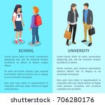 school and university... | Shutterstock .eps vector #706280176