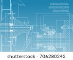mechanical engineering drawings ... | Shutterstock .eps vector #706280242