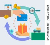 buy online delivery vector... | Shutterstock .eps vector #706284505
