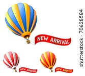 hot air balloon with new... | Shutterstock .eps vector #70628584