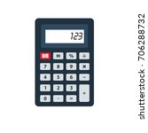 calculator icon isolated vector ... | Shutterstock .eps vector #706288732