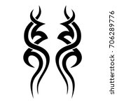 tattoo tribal vector designs.... | Shutterstock .eps vector #706289776
