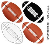 football ball set isolated on a ... | Shutterstock .eps vector #70629118