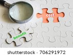 conceptual image of cost and... | Shutterstock . vector #706291972