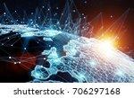 global network and datas...   Shutterstock . vector #706297168