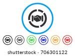 cooperation handshake diagram... | Shutterstock .eps vector #706301122