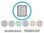 checklist vector rounded icon....