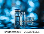 vials for vaccine injection  to ... | Shutterstock . vector #706301668