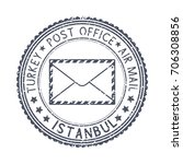 black stamp with istanbul ... | Shutterstock .eps vector #706308856