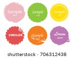 grunge post stamps collection ... | Shutterstock .eps vector #706312438