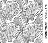 black white seamless pattern... | Shutterstock .eps vector #706313578
