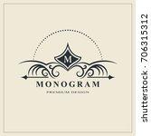 monogram design elements ... | Shutterstock .eps vector #706315312