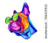 french bulldog. vector... | Shutterstock .eps vector #706319512