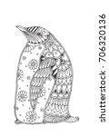 penguin. hand drawn penguins ...   Shutterstock .eps vector #706320136