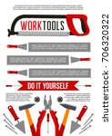 work tools poster template for...   Shutterstock .eps vector #706320322
