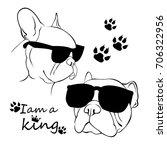 french bulldog. vector...   Shutterstock .eps vector #706322956