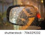 selective focus raindrops on... | Shutterstock . vector #706329232