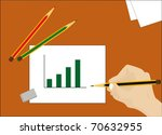 the schedule is drawn by a... | Shutterstock .eps vector #70632955