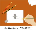and now we learn to draw the... | Shutterstock .eps vector #70632961