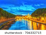 view on bridge vittorio... | Shutterstock . vector #706332715