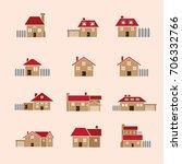 Clip Art  House Vector Icon Se...